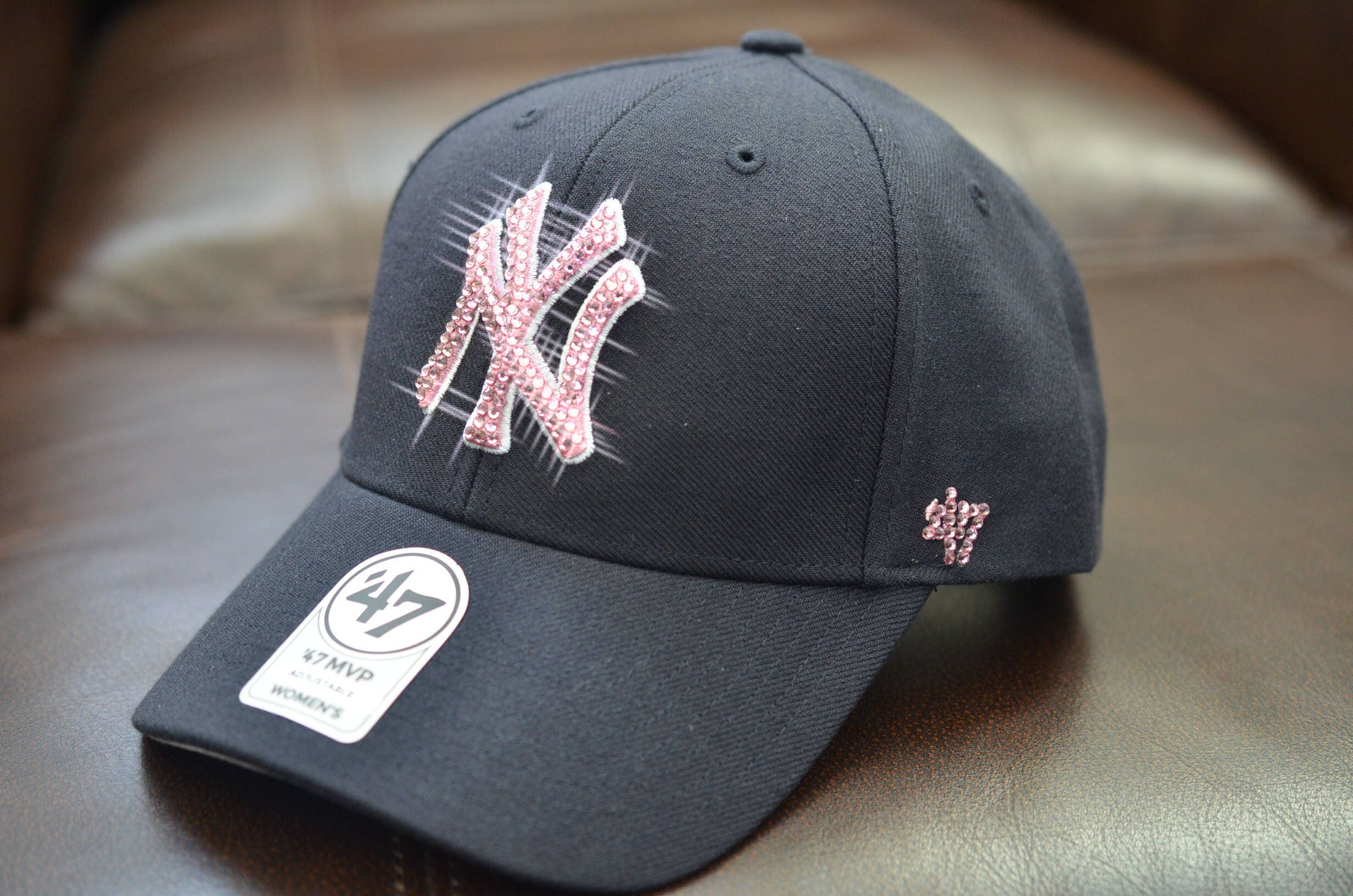 c06bccbc224 Bling Bling Customized New York Yankees Cap With Swarovski Crystals ...