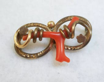 Victorian Branch Coral Pin - Fixer