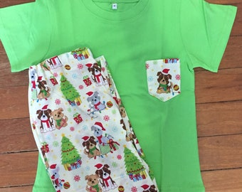 Kids Christmas PJ's -Christmas Pups