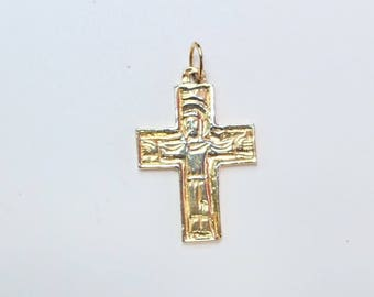 24 K Gold Plated Sterling Silver Jesus Crucifix