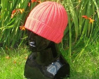 40% OFF SALE Instant Digital File pdf download knitting pattern-- 2 X 2 All rib beanie Hat pdf knitting pattern