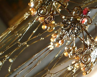 Bronze Lace - A Sunshower Chandelier