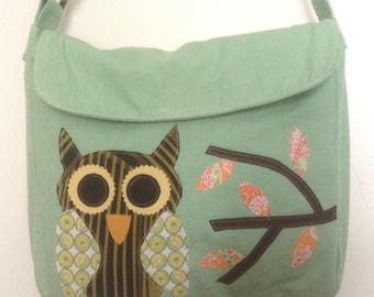Owl on a Satchel/Messenger Bag