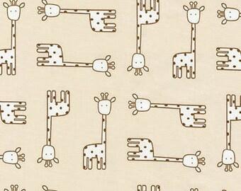 Robert Kaufman Fabric Penned Pals Giraffes in Tan by Ann Kelle, Choose your cut
