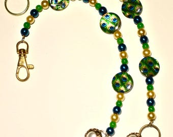 Handmade Key Chain and Purse Jewelry with Beads and Charms