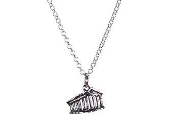 Parthenon necklace - sterling silver - Greek jewelry - fine jewelry - gift for her - Greek gift - Athens souvenir - Summer Greece