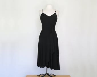DONNA // 1970s asymmetrical disco dress LBD