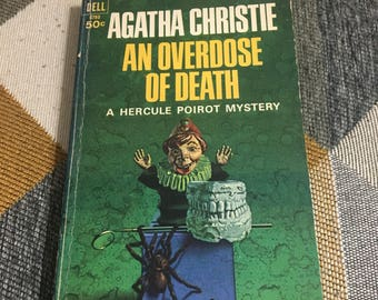 Vintage 1967 Agatha Christie An Overdose of Death Paperback Book