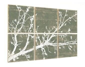 Large Cherry Blossom Nature Print Decor - Rustic Wall Art - Girls Room Nursery Decor