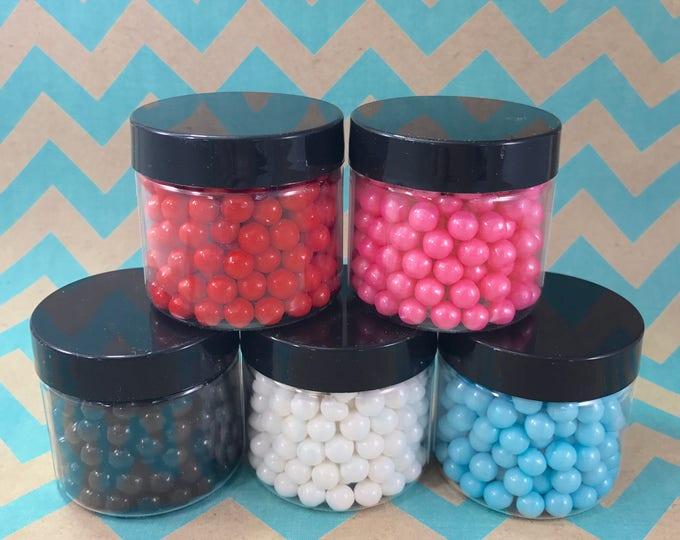 "PEARL SET, 5 Colors, 2oz ea, 1/4"", Pink/Red/Aqua/White/Onyx, 10 oz total"