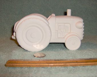 Cute Farm Tractor in Ceramic Bisque Ready For You To Paint