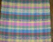 Handwoven Pastel Multi Rag Rug  (Inv. ID #06-0118