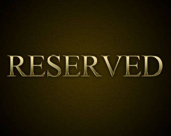 Reserved for Allie - Balance