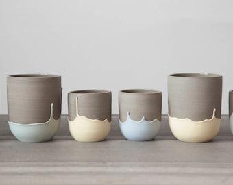 Tasse à café - grande tasse en céramique - tasse espresso - tasse à thé - verre en céramique - mug en grès - gobelet à café