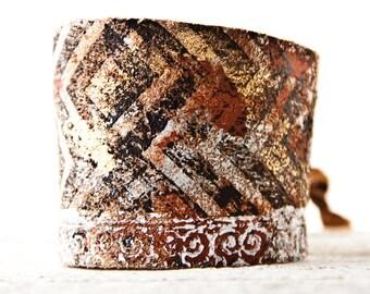 Leather Jewelry Wrist Cuff, Leather Cuff Bracelet, Leather Wrist Band for Women