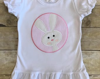 Bunny short sleeved shirt with name embroidered.
