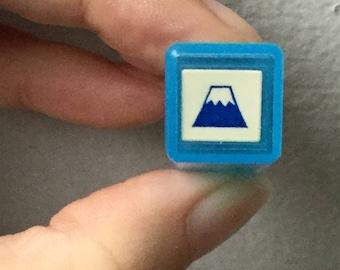 Mt Fuji Stamp - Tiny Schedule Stamp - Self Inking Stamp - Kodomo no Kao - 10mm square