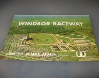 windsor raceway postcard