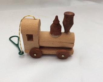 Vintage Wood Train Ornament