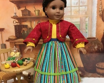 "Historical ""Fall Fiesta"" for Josefina by American girl or similar 18 inch dolls"