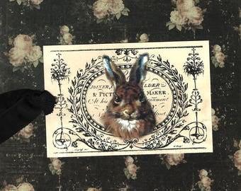 Tags, Rabbit, Vintage Style, Rabbit Tags, Vintage Rabbit, Party Favors