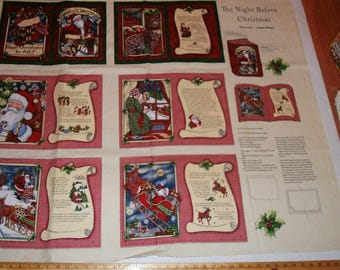 Soft Baby Book Panel Complete The Night Before Christmas Clement Moore Santa Story Christmas Book Panel Craft Show Bazaar Sewing Supply