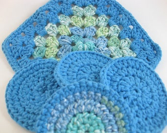 Crochet Spa Washcloth, Facial Scrubbie, Eco-Friendly Pads, Make up Removers, Cotton Washcloth, Crochet Scrubbers, Bath Washcloth