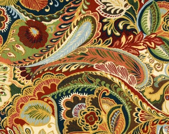 "Richloom Giverny Cameleon Fabric Remnants,2 - 92"" x 21"",Price for 1, 100% Cotton/2-ply Duck,Upholstery,Bags,Pillows,Craft Use.Free Shipping."