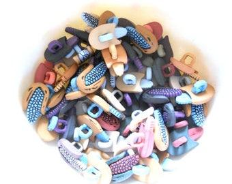 30 pcs Novelty Corn Shank buttons size 15 mm x 12 mm