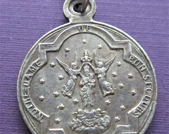 Antique French Crowning Of Our Lady Of Good Help Expulsion Of The Oblates Religious Medal Dated 1903  SS10