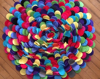 Jewel Tones Fleece Round Rug-FUN