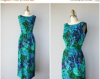 48 HR FLASH SALE Vintage 1960s Maxi Dress   60s Hawaiian Dress   1960s Dress   Mildred's of Hawaii Dress   60s Maxi Dress