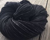 Hand Dyed DK Yarn Gunpowder Black hand painted yarn 274 yards handdyed dk sport superwash merino wool swm charcoal gray grey black pirate