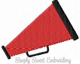 Cheer Megaphone Mini Machine Embroidery Design