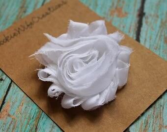 Shabby White Flower Hair Clip