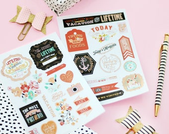 2pk planner stickers Our Travels