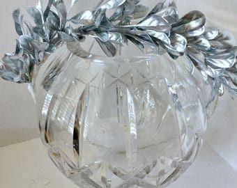 ON SALE Silver Leaf Crown, Flower Wreath, Hair Accessory, Circlet, Wedding, Fairy Crown, Bridal Party, Fairy Costume, Halloween