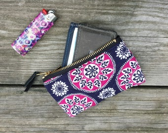 "5"" quilted zipper pouch"