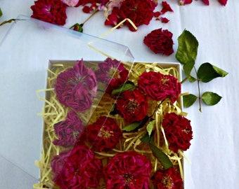 Dry Miniature Red Roses, Christmas Decorations, Wedding decor, Craft Supplies, Flower Girl, Wedding Confetti, Centerpiece, Cake Decorations