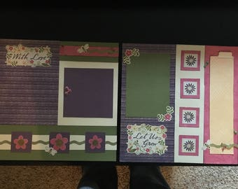 Just Grow - 2 Premade Scrapbook Pages