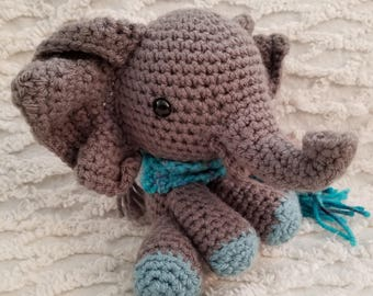 Baby Elephant Crocheted Toy, Amigurumi