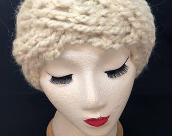 Cadillac Square Headband in Cream