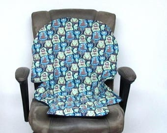 Graco high chair pad, Duodiner or Blossom baby accessory replacement pad, baby chair cushion, kids furniture, feeding chair pad, monsters