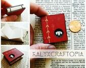 tiny coptic bound book - red vintage dachshund