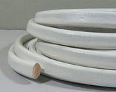 White Regaliz Licorice Leather - R23 - Choose Your Length