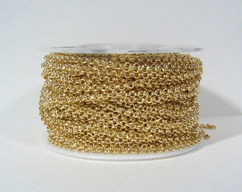2mm Rolo Chain - Gold Plated - CH48 - Choose Your Length