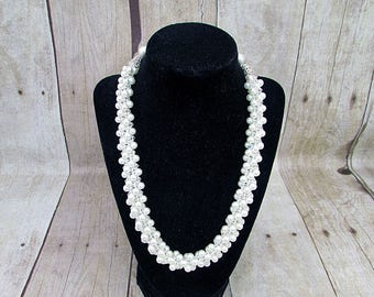 Kumihimo Pearl Necklace - K21