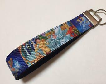 Pretty Cinderella Key Fob Keychain wristlet