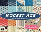 Fabric by Riley Blake:  Rocket Age by October Afternoon Layer Cake