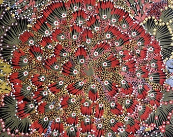M & S Textiles - Aboriginal - Bush Bandana by Donna Abbots - Fabric by the Yard BB